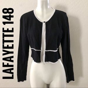 Lafayette 148 black cardigan